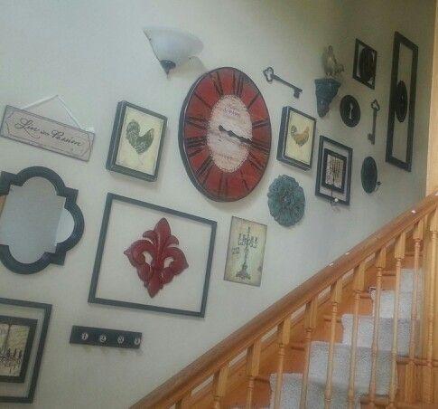 Stairway wall decoration | Home Decor | Pinterest | Stairway walls ...