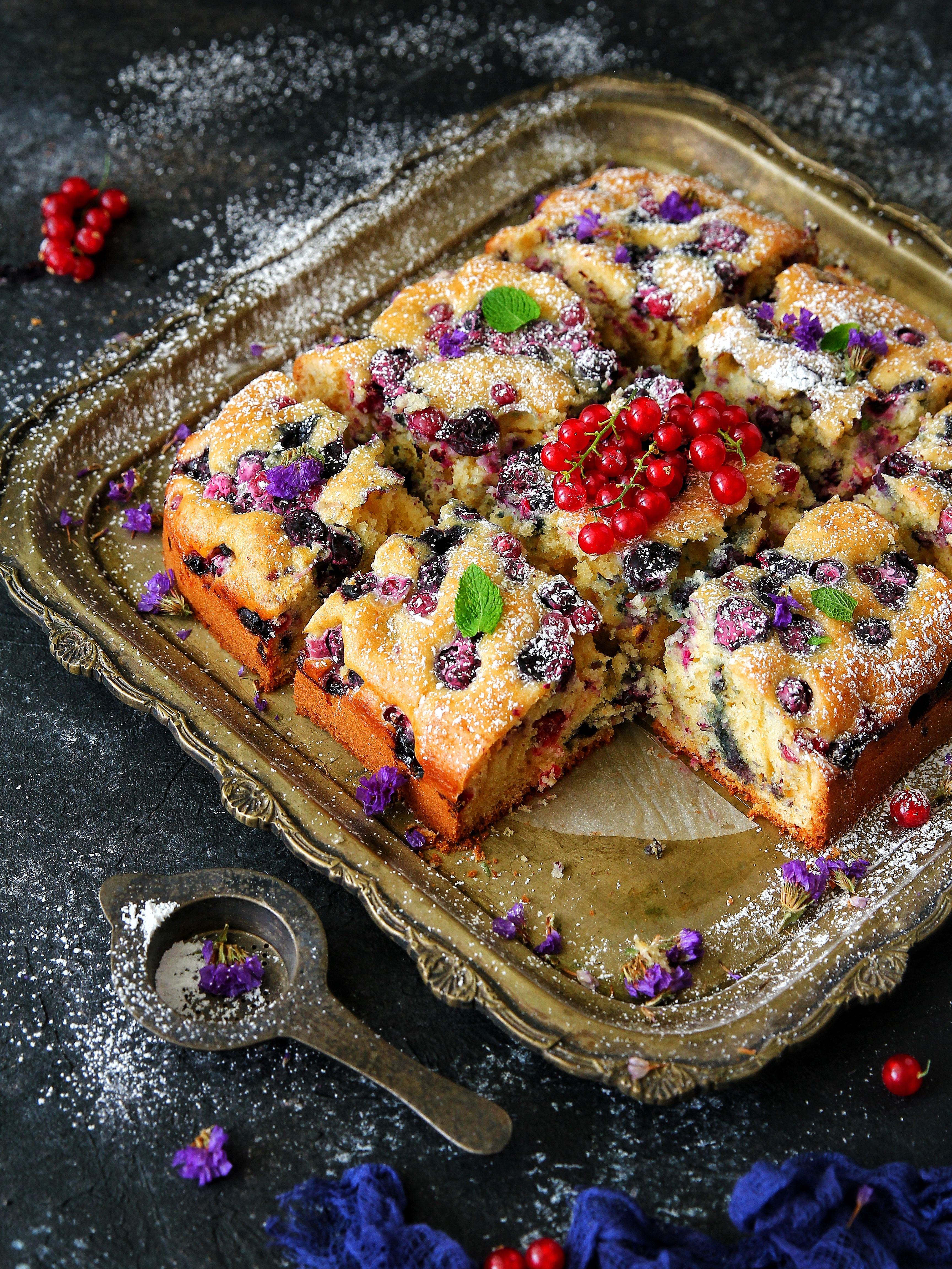 Blueberry Cake Snack Recipes Yummy Food Blueberry Cake