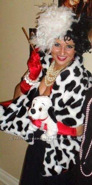 easy cruella de vil homemade halloween costume - Cruella Deville Halloween Costume Ideas