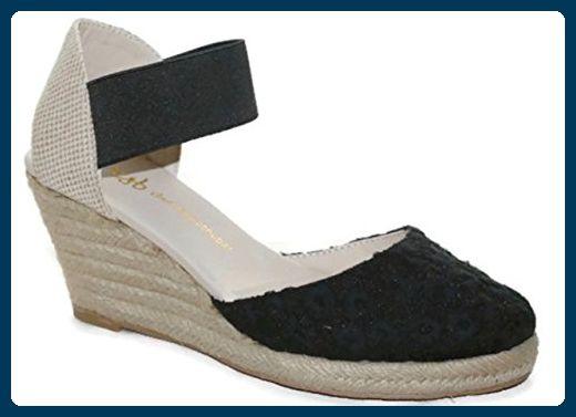 Ital-Design Zehentrenner Damen-Schuhe Peep-Toe Zehentrenner Sandalen/Sandaletten Schwarz, Gr 40, 35-81-