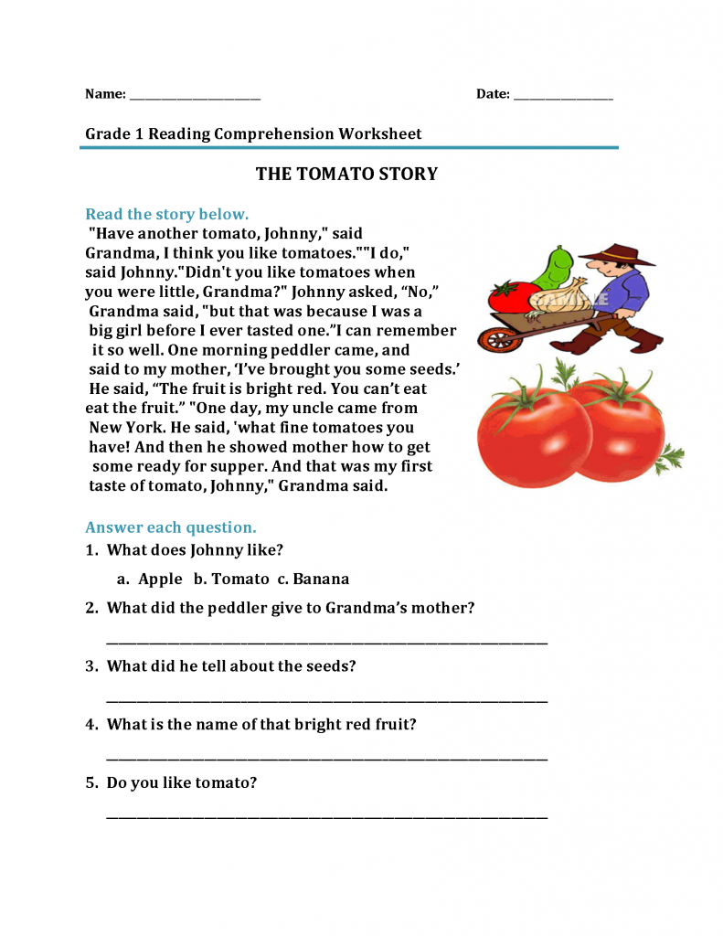 small resolution of 1st Grade Reading Worksheets - Best Coloring Pages For Kids   Reading  comprehension worksheets