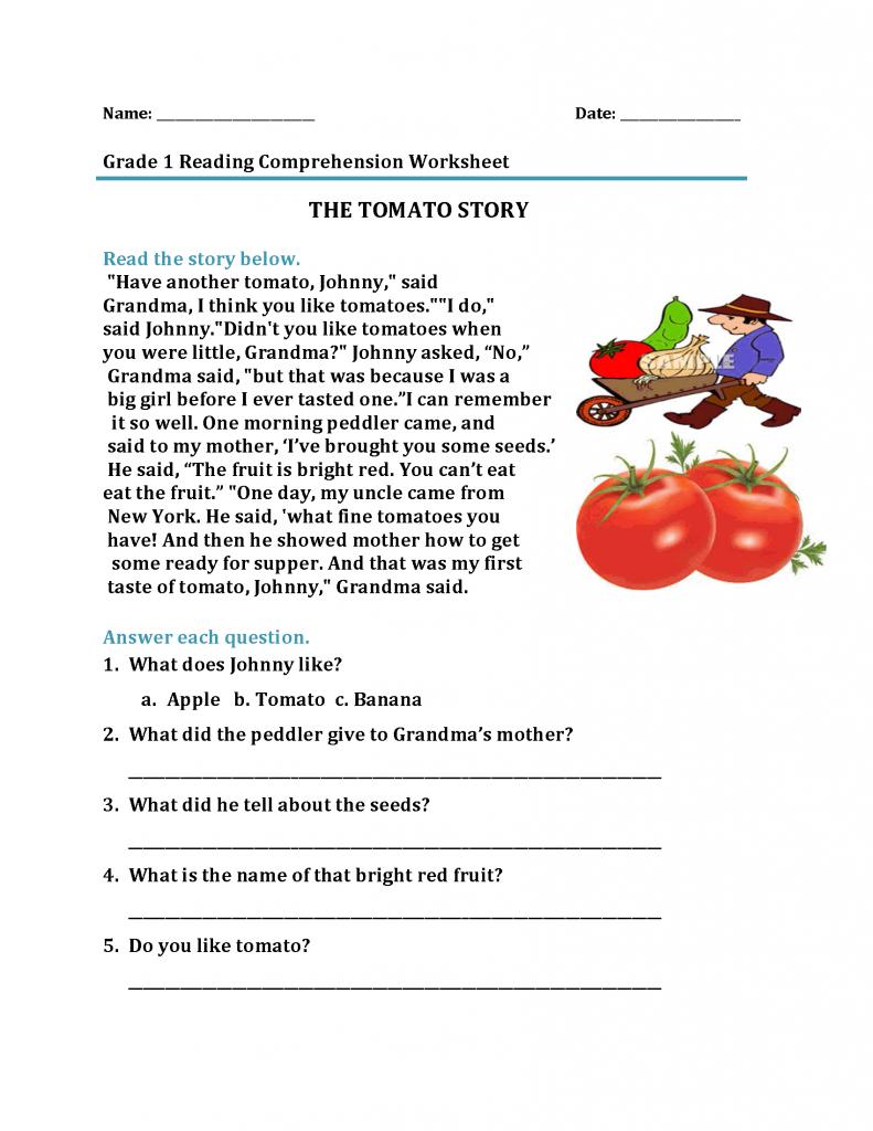 1st Grade Reading Worksheets Best Coloring Pages For Kids Reading Comprehension Worksheets Comprehension Worksheets Grade 1 Reading [ 1024 x 791 Pixel ]