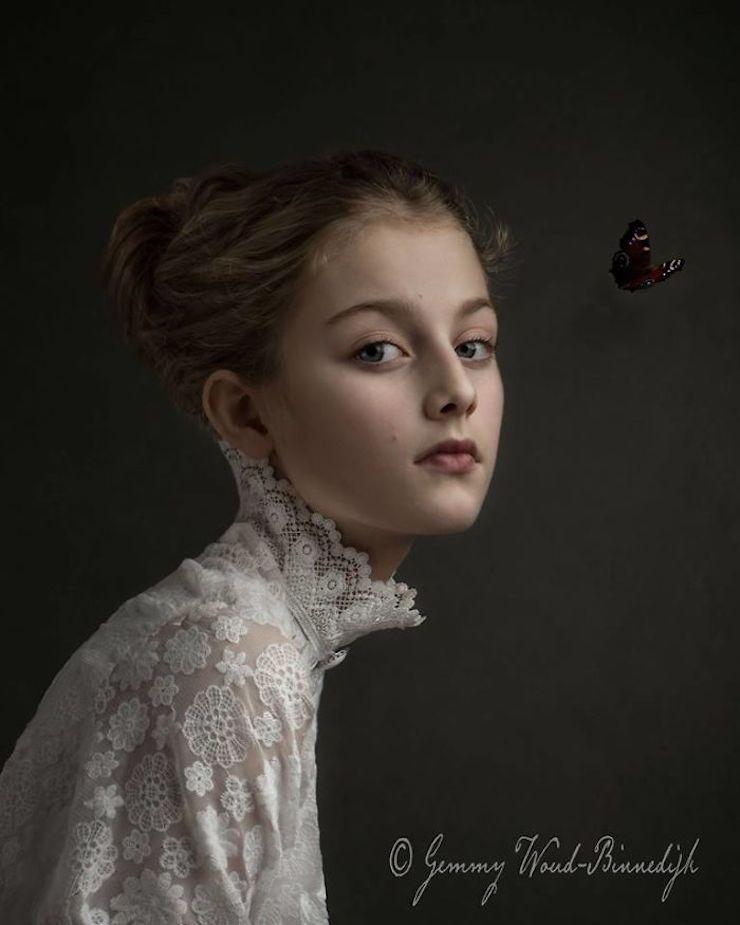 Elle crée des photos fascinantes avec les techniques des peintures anciennes