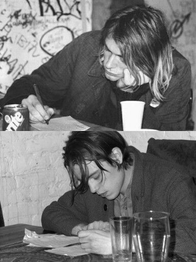 An Nirvana photo and an iceage photo.... lovely