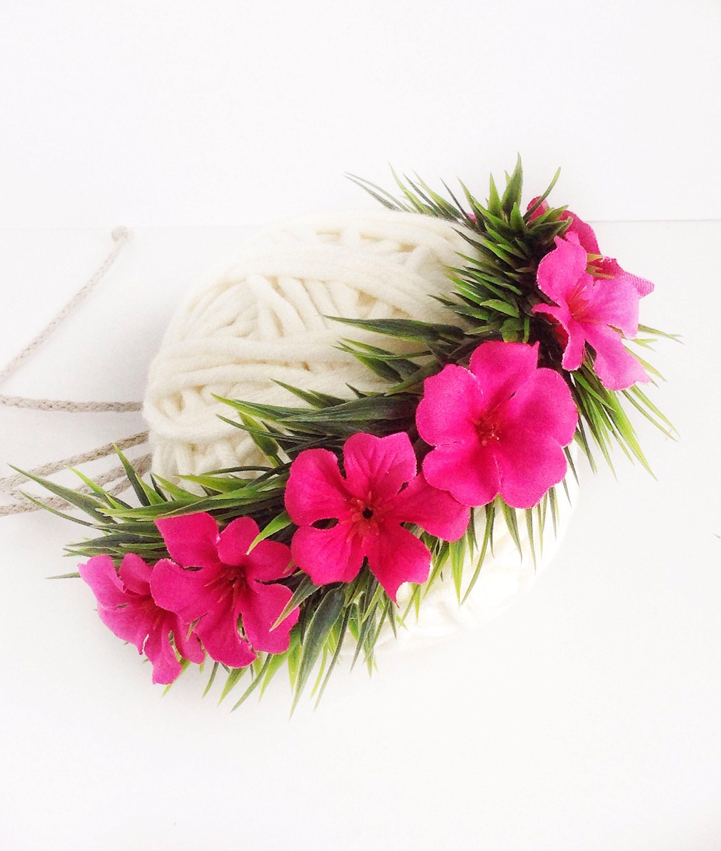 Infant Moana Headband, Baby Moana Flower Crown, Haku Lei