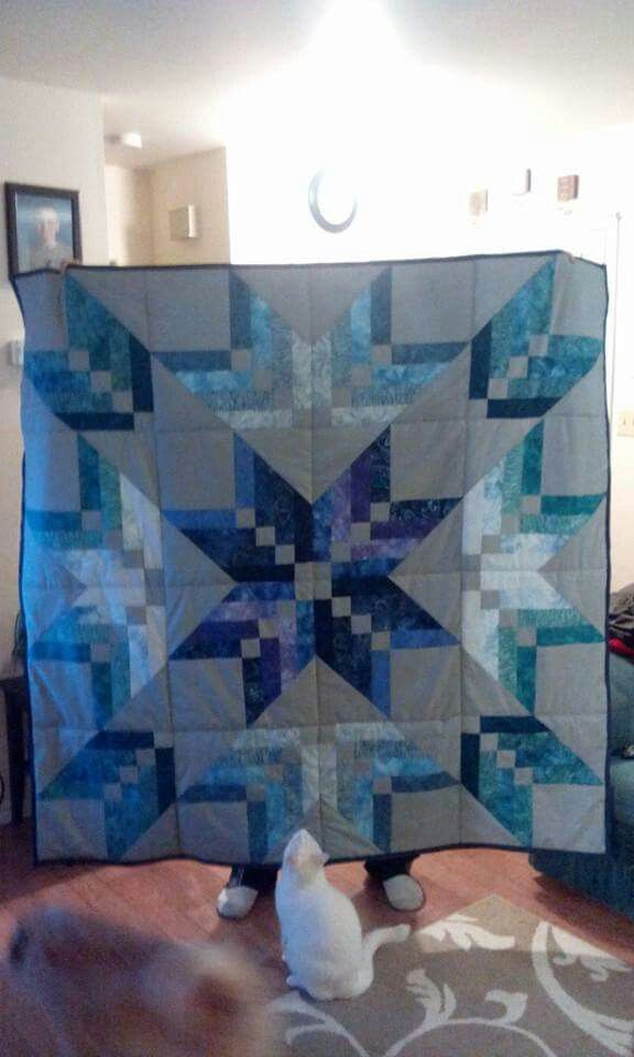 MSQC binding tool star quilt-love the kitty in the picture:)