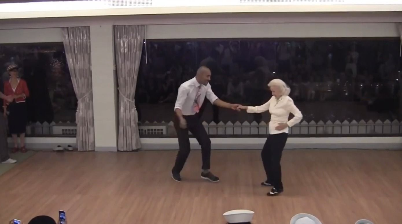 90yearold shows off incredible dance moves Old shows