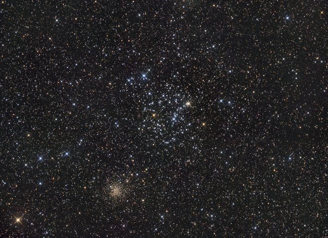 Stargazer Spies Star Clusters of the Gemini Constellation