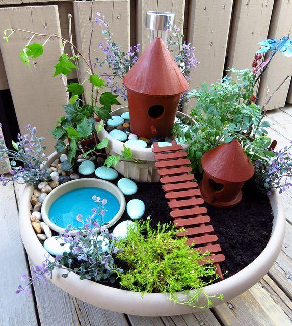 Jardin de f es par mariemily jardines pinterest jardines macetas y peque os jardines - Jardin de fee ...