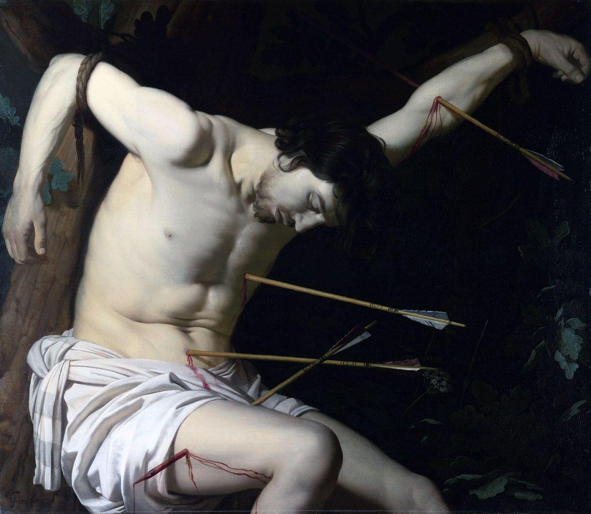 Gerrit van Honthorst (NL, 1592-1656) St Sebastian 1623 Oil on canvas National Gallery London