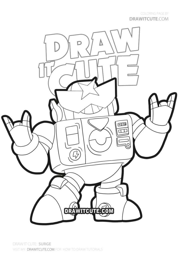 New Brawler Surge Brawl Stars By Draw It Cute Brawlstars2018 Brawlstars2019 Brawlstarsgames Brawlst Star Coloring Pages Drawing Tutorial Easy Easy Drawings