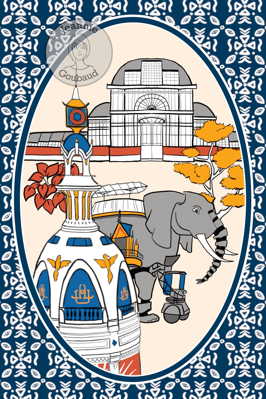 Dessin de Nantes à imprimer au format affiche/carte postale en 2020   Carte postale, Nantes, Postale