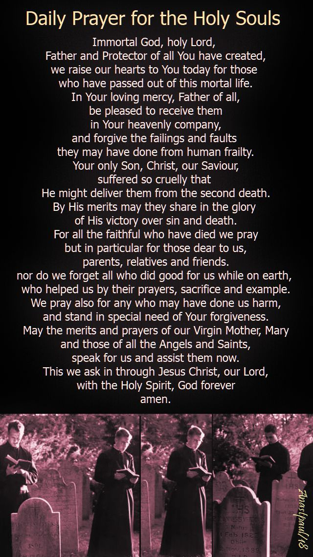 Our Morning Offering – 2 November – The Commemoration of All the Holy Souls in Purgatory