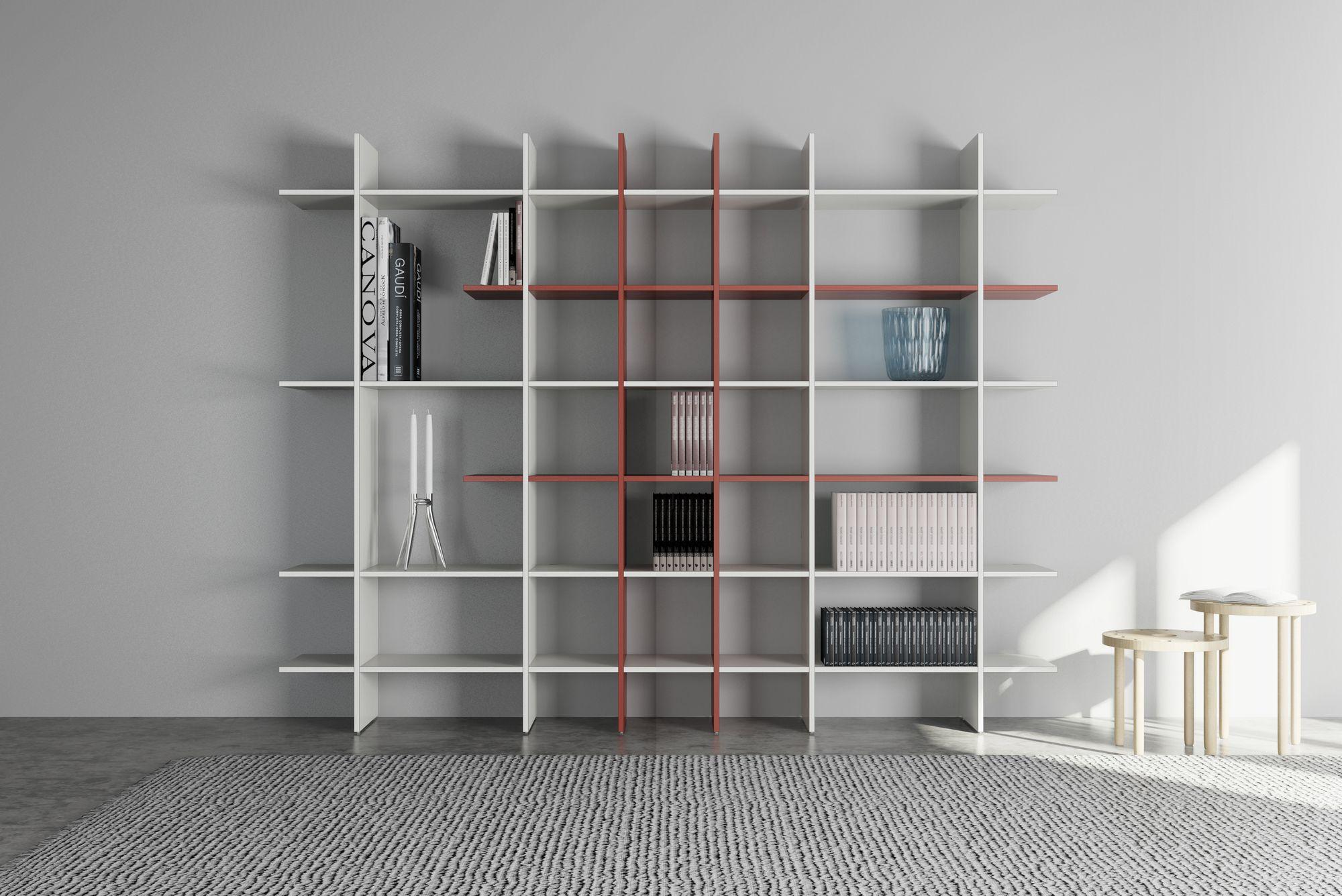 Libreria a giorno TAKEBOOK - De Rosso