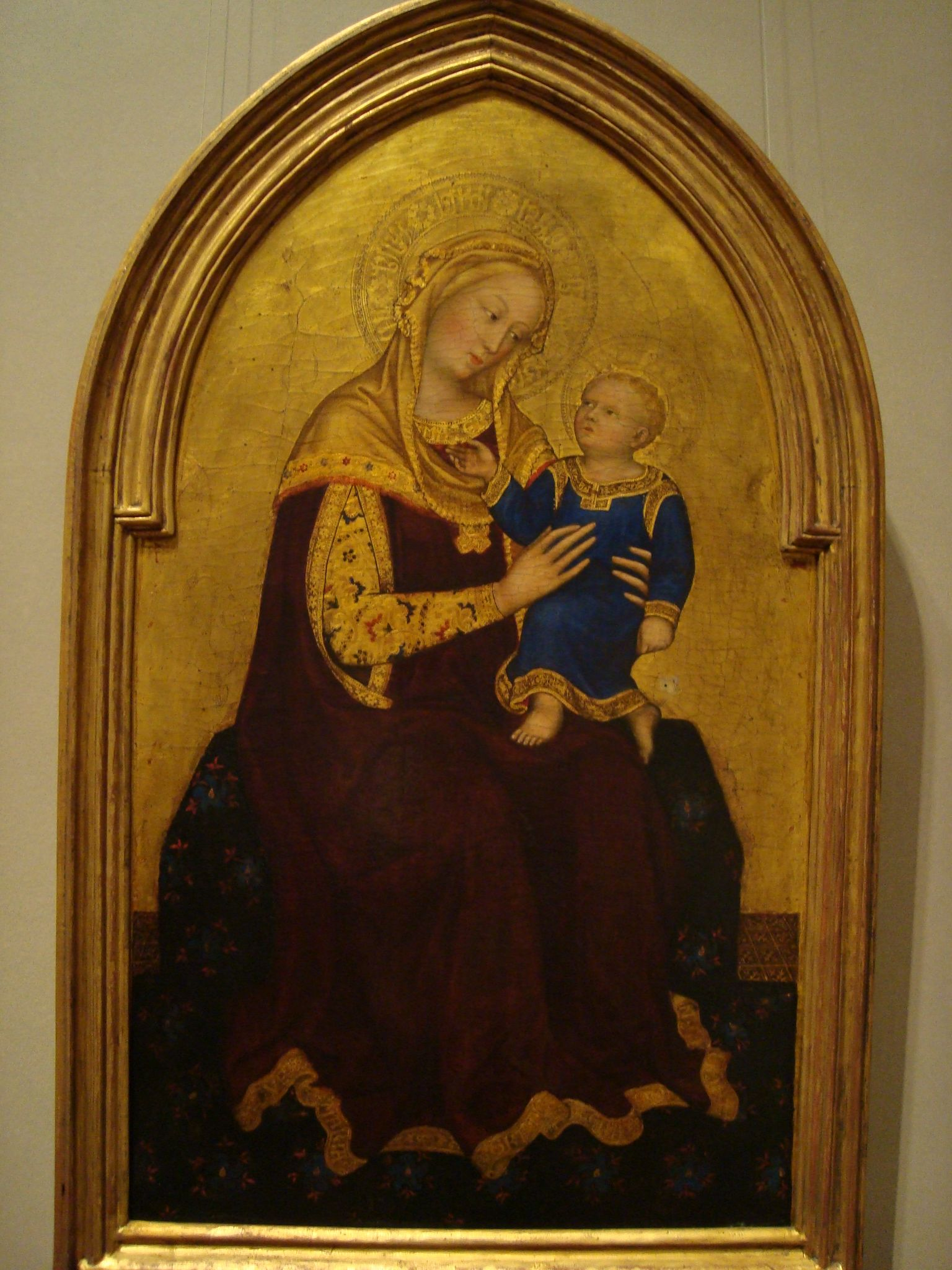 """Madonna and Child Enthroned"" -Gentile da Fabriano (1420)"
