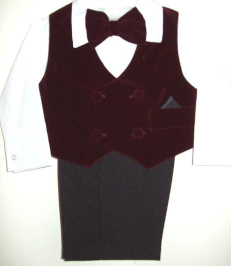 Babies Burgundy Suit