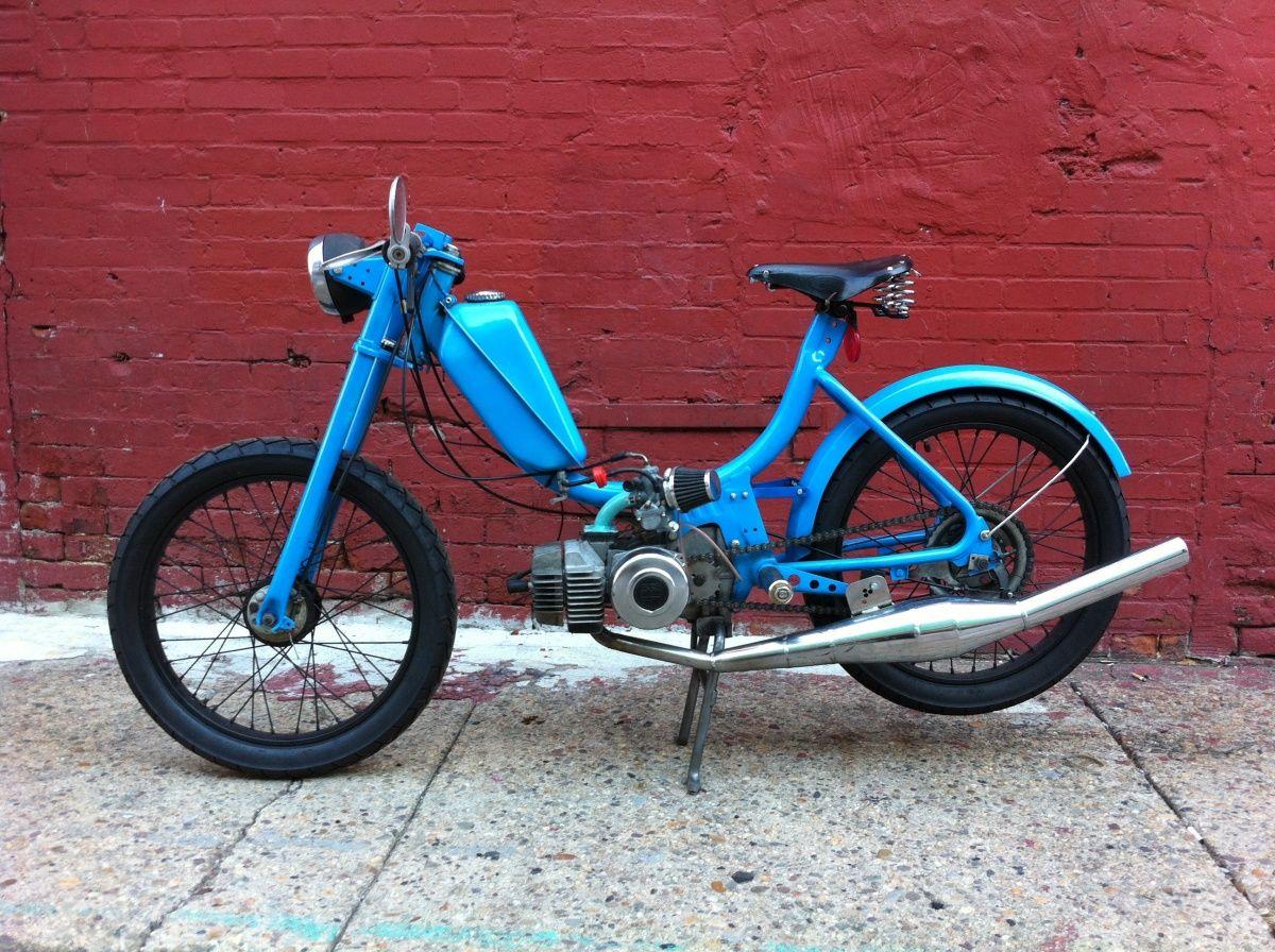 Car amp bike fanatics suzuki m50 bobber bike - Blue Cool Mopeds Custom Mopeds Shit Hot Mopeds