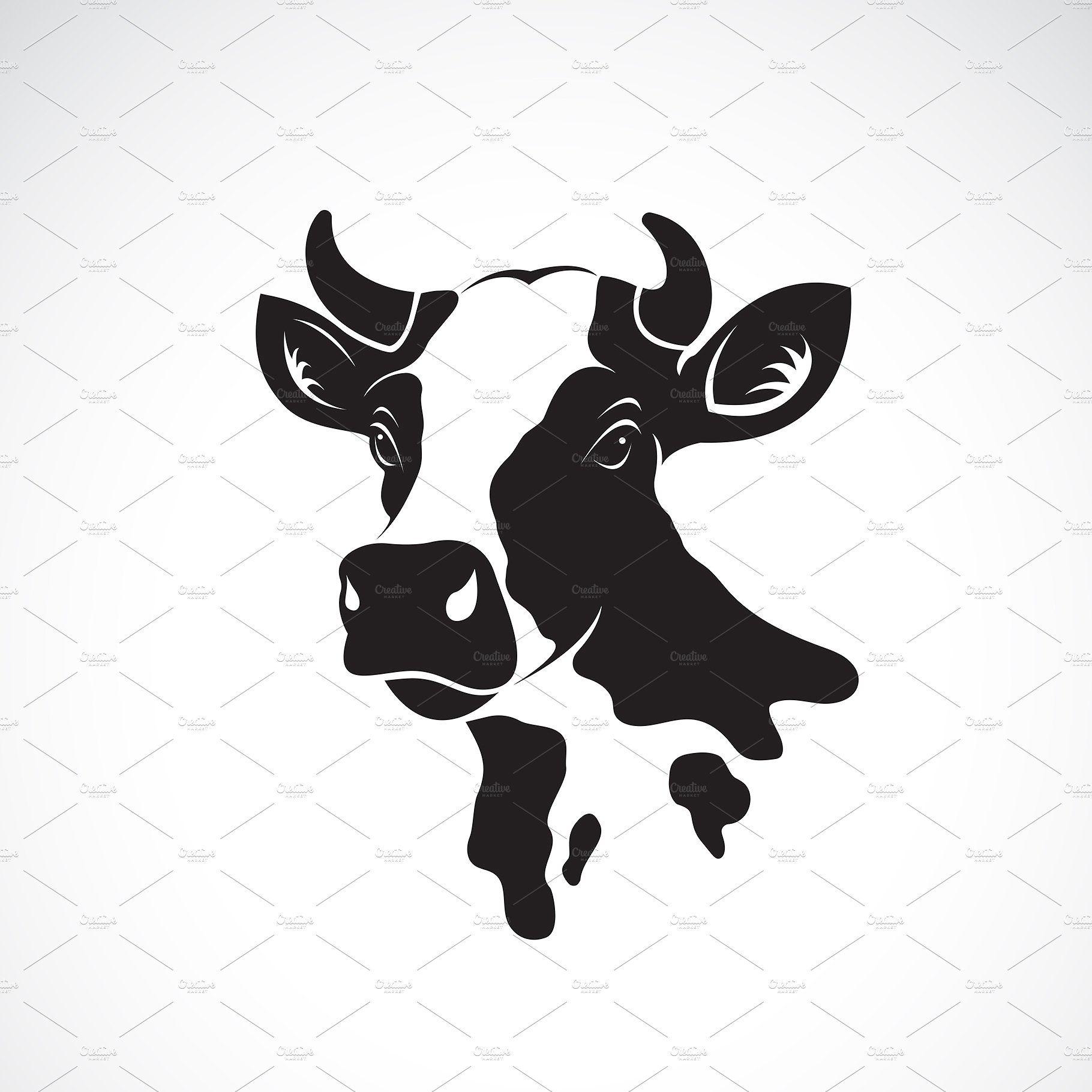 Vector Of Cow Head Design Animal Cow Illustration Cow Art Cow Head