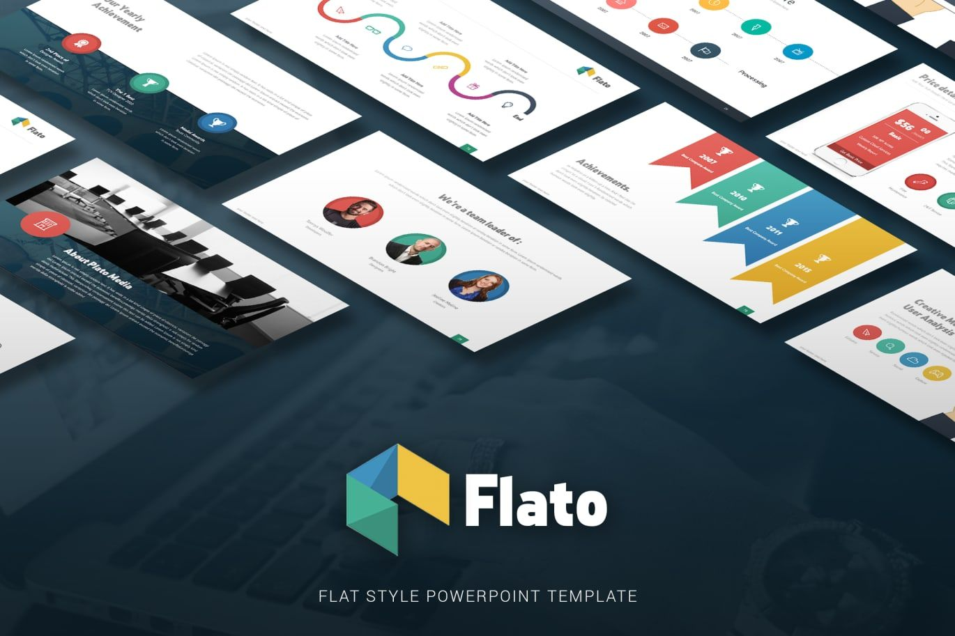 Flato flat multipurpose powerpoint template by slidewerk on envato flato flat multipurpose powerpoint template by slidewerk on envato elements toneelgroepblik Image collections