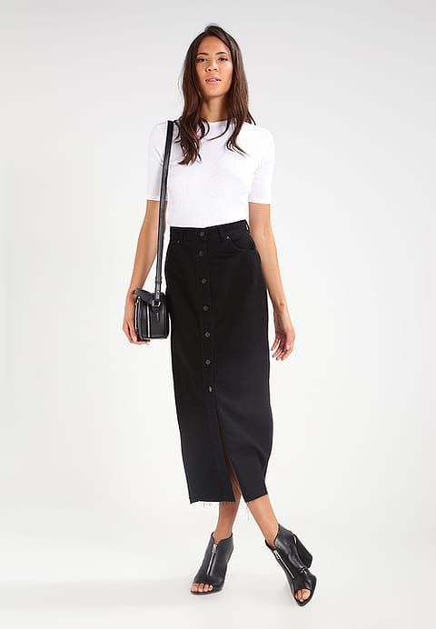 09b86d45a8 Dr.Denim VENLA - Maxi skirt - black - Zalando.co.uk   Style ...