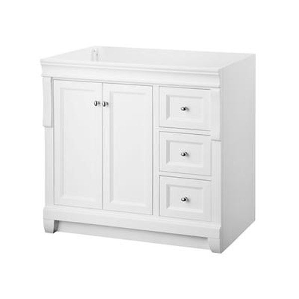 Superbe 36 Inch White Bathroom Vanity   1