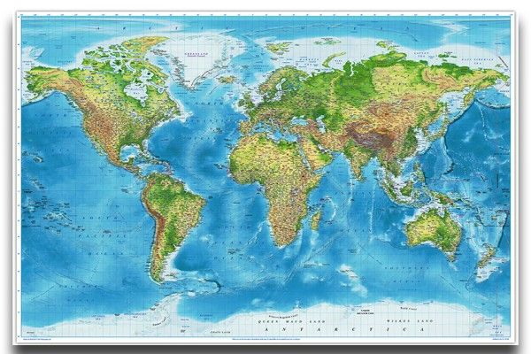 World map wall chart political physical poster iposters cork world map wall chart political physical poster iposters gumiabroncs Images