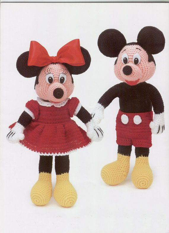 E Book Mickey And Minnie Mouse Amigurumi Pattern By Room65 On Etsy