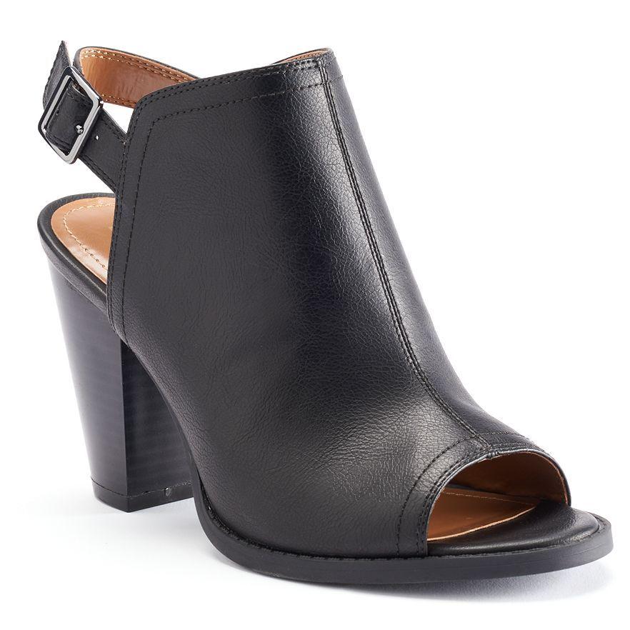Peep toe bootie, Lauren conrad shoes