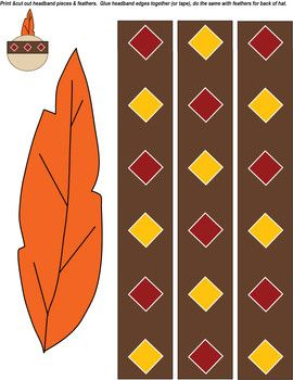 native american hat thanksgiving crafts free printable ideas from family shoppingbagcom