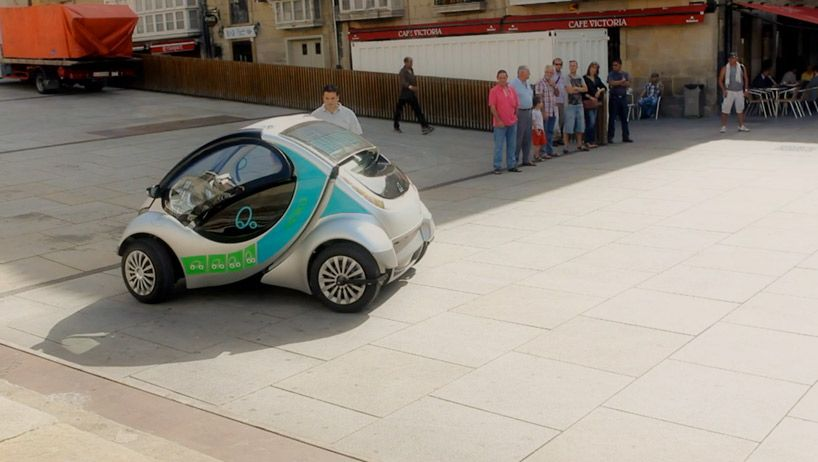 World S First Folding Electric Car By Hiriko Motors Electric Cars