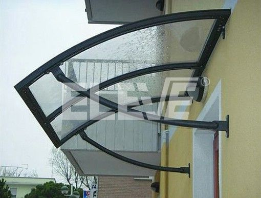 Alero marquesina curvo protecci n para puerta de entrada - Marquesinas para terrazas ...