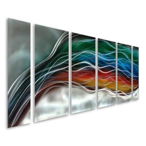 Silver Sophisticated Modern 3D Etched Metal Wall Art Accent - Contemporary Three Piece Set of Abstract Home Decor - Metallic Wall Art - 3 of a Kind By Jon Allen