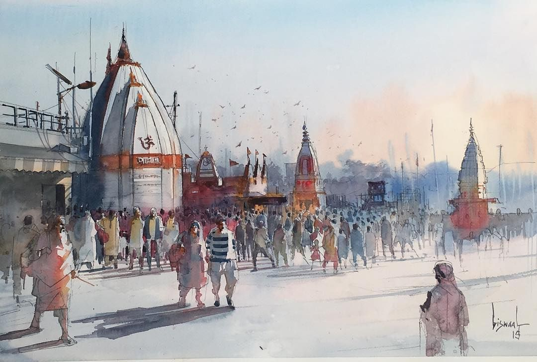 Bijay Biswaal Watercolor Paintings Easy Easy Watercolor