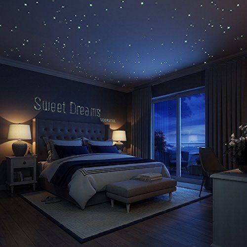 CHARLLEAN 252 Leuchtpunkte und Mond für Sternenhimmel ...