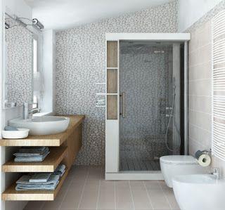 ARREDAMENTO E DINTORNI: piastrelle bagno | Bagno | Pinterest