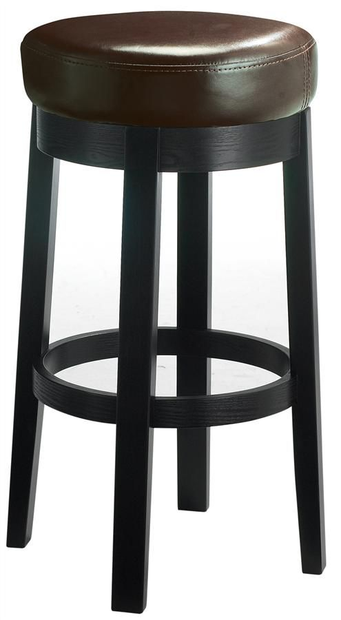 Cedric Backless Padded Counter Stool W Swivel Seat For