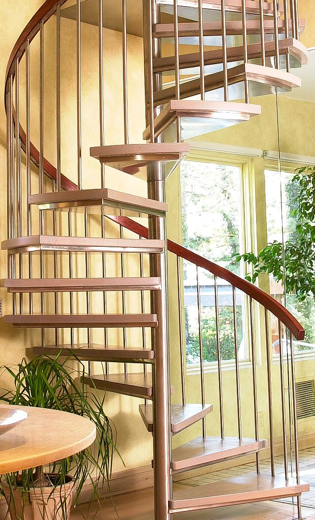 Best Custom Series 200 Stainless Steel Spiral Stair With Wooden 400 x 300