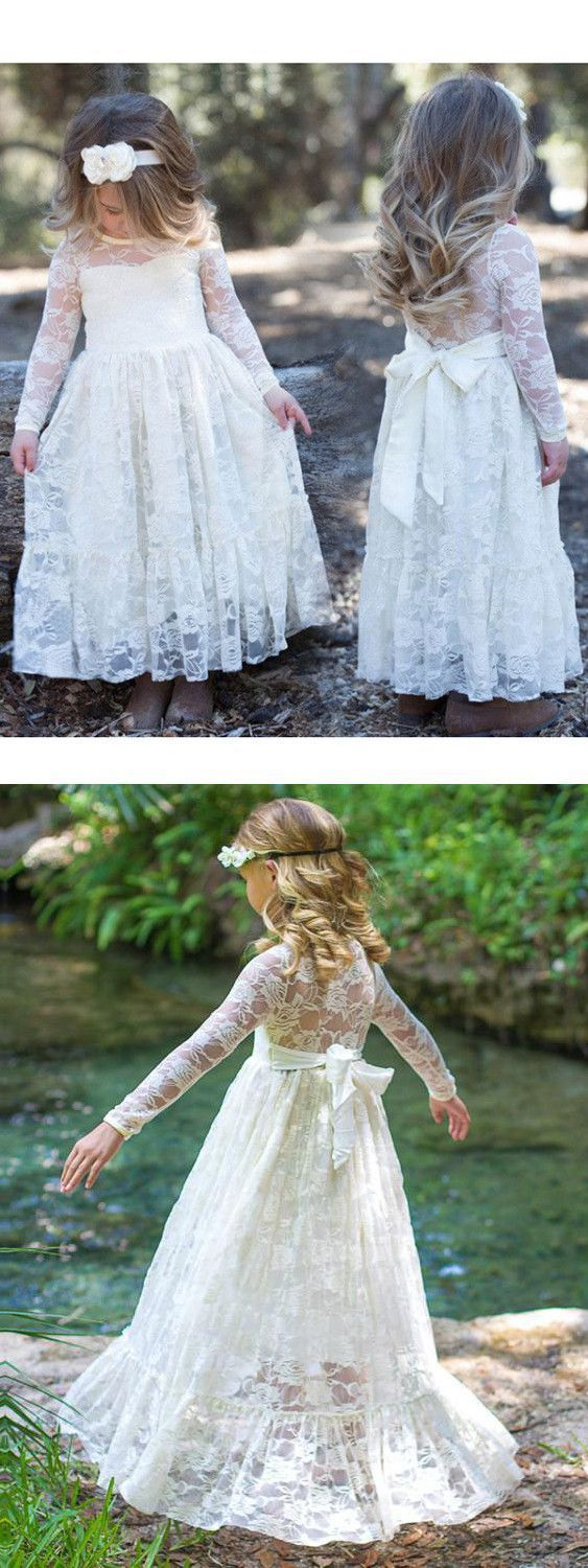2018 lace flower girl dresses with sleeves cute cheap flower girl 2018 lace flower girl dresses with sleeves cute cheap flower girl dresses izmirmasajfo