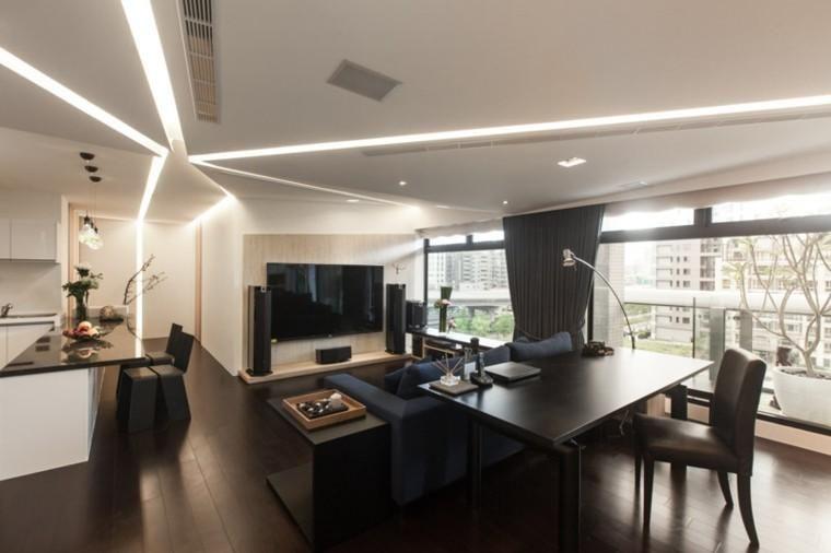 Indirekte LED-Strahler zünden das Wohnzimmer an - 50 Ideen