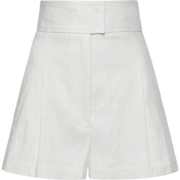 hvide højtaljede shorts