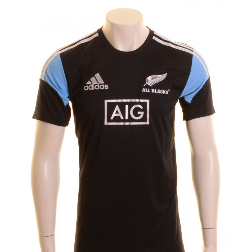 Adidas New Zealand Maori All Blacks Rugby Shirt Black and White ...
