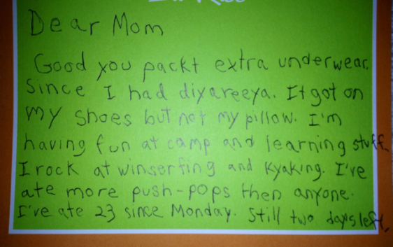 Kid Writes The Best Letter From Camp Ever Click On The Pick To