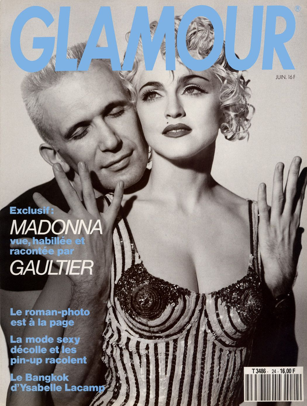 Madonna and Jean Paul Gaultier on the cover of Glamour.