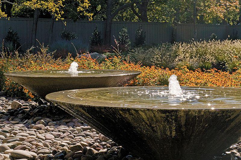 Contemporary Fountain Bonick Landscaping Dallas Tx 640 x 480