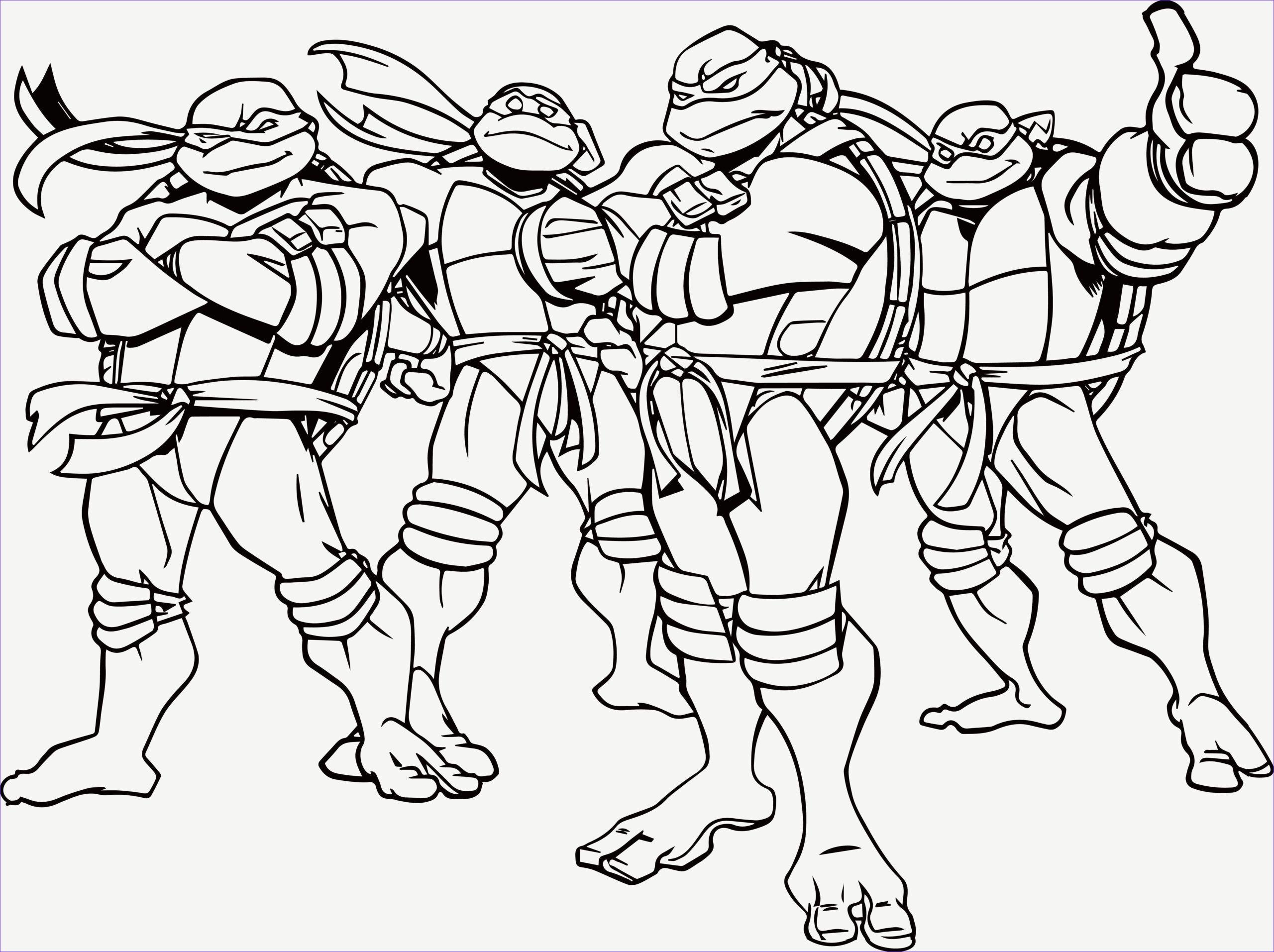 Nickelodeon Teenage Mutant Ninja Turtles Coloring Pages In