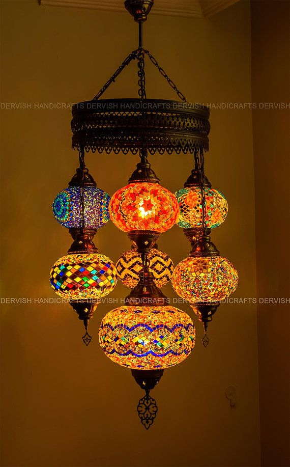 Luxurious Handmade Mosaic Lights For Dining Turkish Moroccan Etsy Moroccan Ceiling Light Handmade Mosaic Mosaic