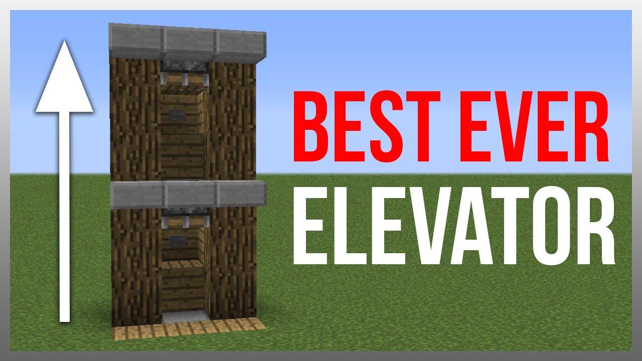 Minecraft 12.12: Redstone Tutorial - BEST Elevator!  Minecraft
