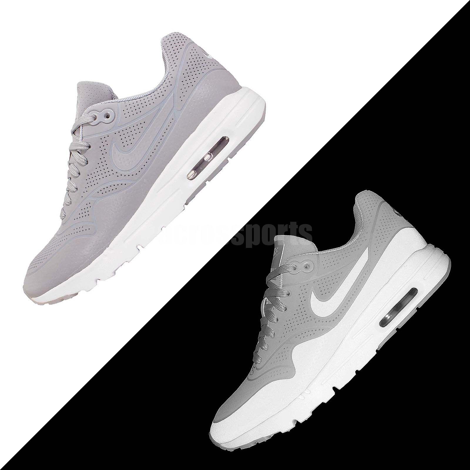 Wmns Nike Air Max 1 Ultra Moire Grey White Womens Running Shoes 704995 002 Womens Running Shoes Nike Air Max Nike