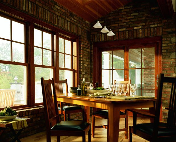 Andersen Double Hung Windows With 2x2 Grill Pattern In Top