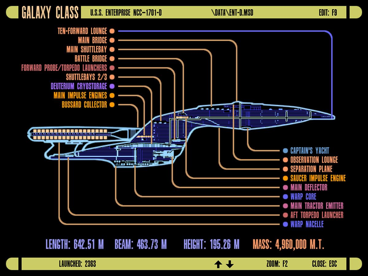 Class Enterprise D Star Trek Schematics 6611x4372 Wallpaper Download Engineering